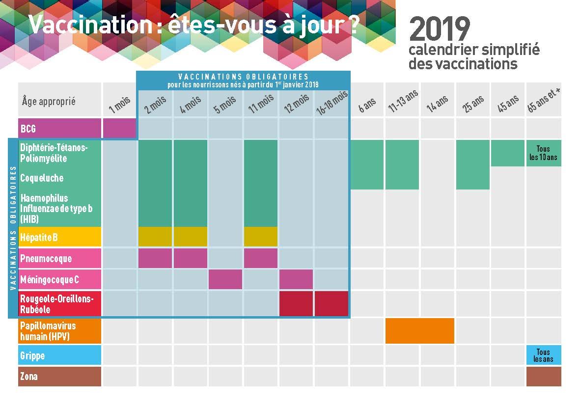 Calendrier Femme Enceinte.Le Calendrier Vaccinal 2019 A La Reunion